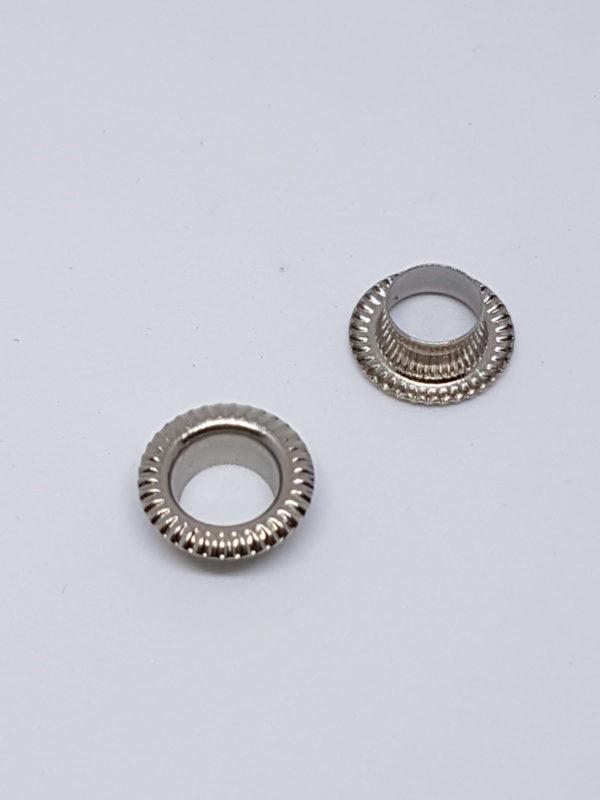metalowe oczka grawerowane 6mm niekiel