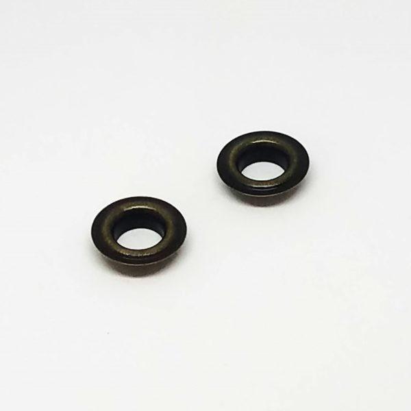 metalowe oczka kaletnicze 8mm stare złowo