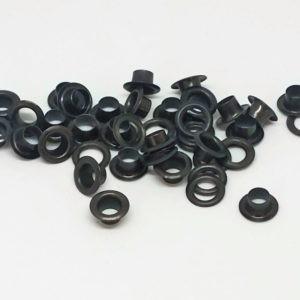 Oczka metalowe 8mm czarne